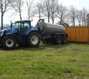 Vacuumtank 13m3 - loonbedrijf van den Berg